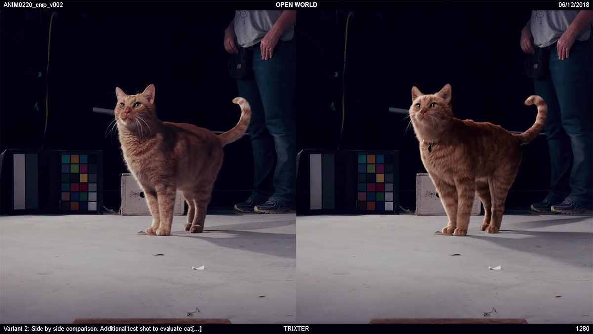 What goes on behind the scenes when a VFX studio does one of those 'real vs. CG' test shots?