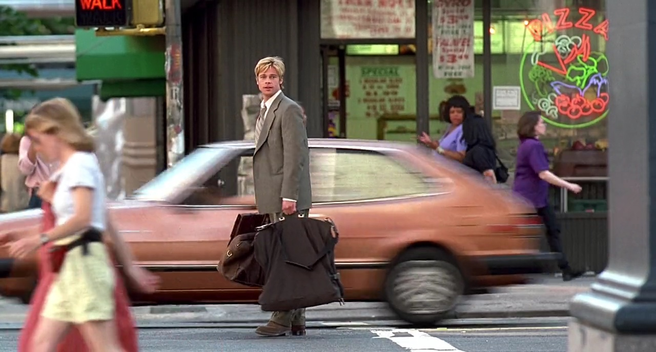 Remember that time Brad Pitt got hit by a van, and a taxi?