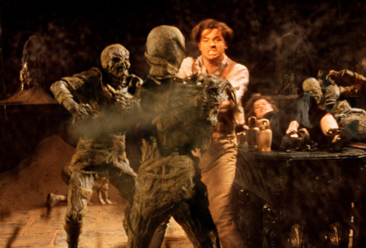 Remember when Brendan Fraser took on all those mummies by himself?