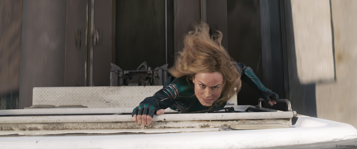 Captain Marvel Chase scene