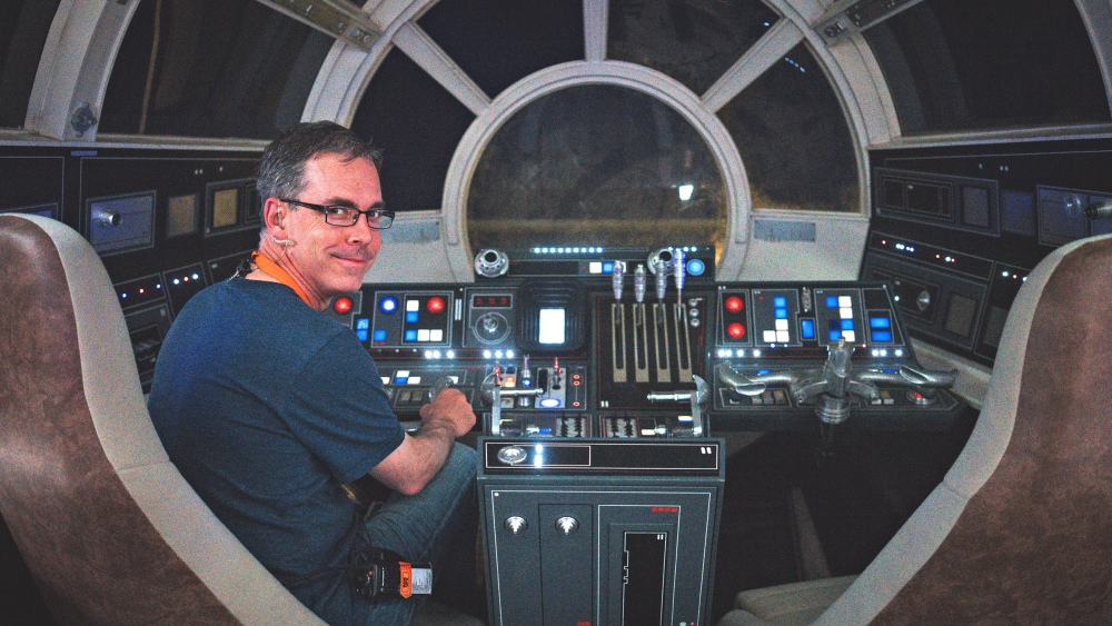 Rob Bredow on the set of 'Solo'