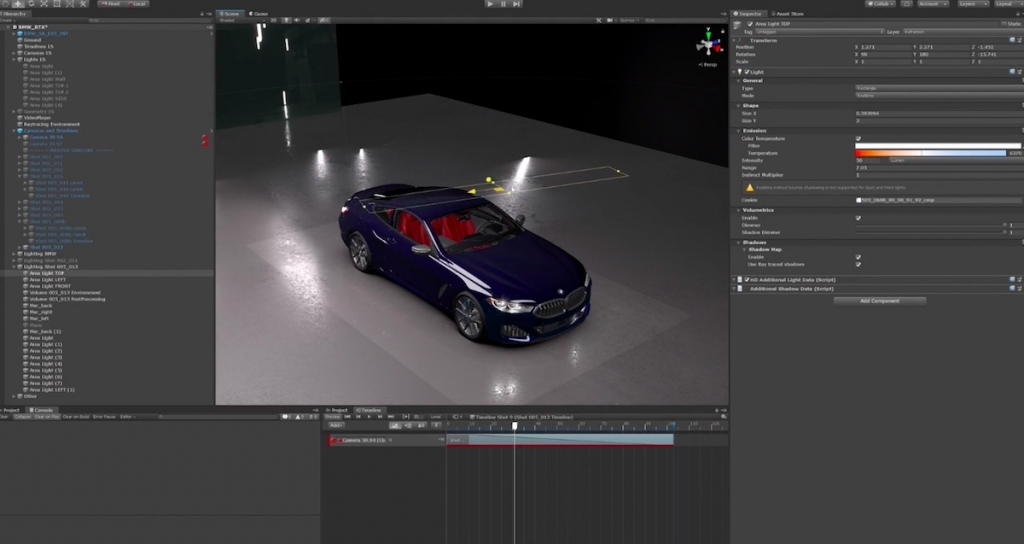 Unity Real time Tracing