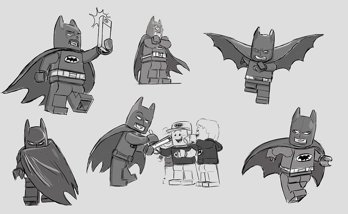 Character art from 'The LEGO Batman Movie.