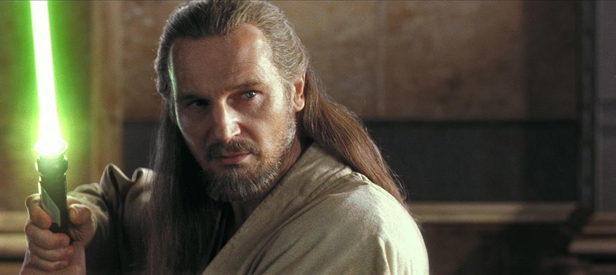 Liam Neeson as Qui-Gon Jinn