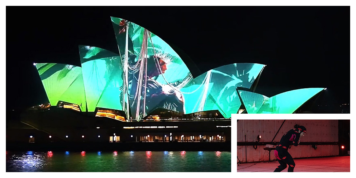 Mocap, motion graphics and the sails of the Sydney Opera House