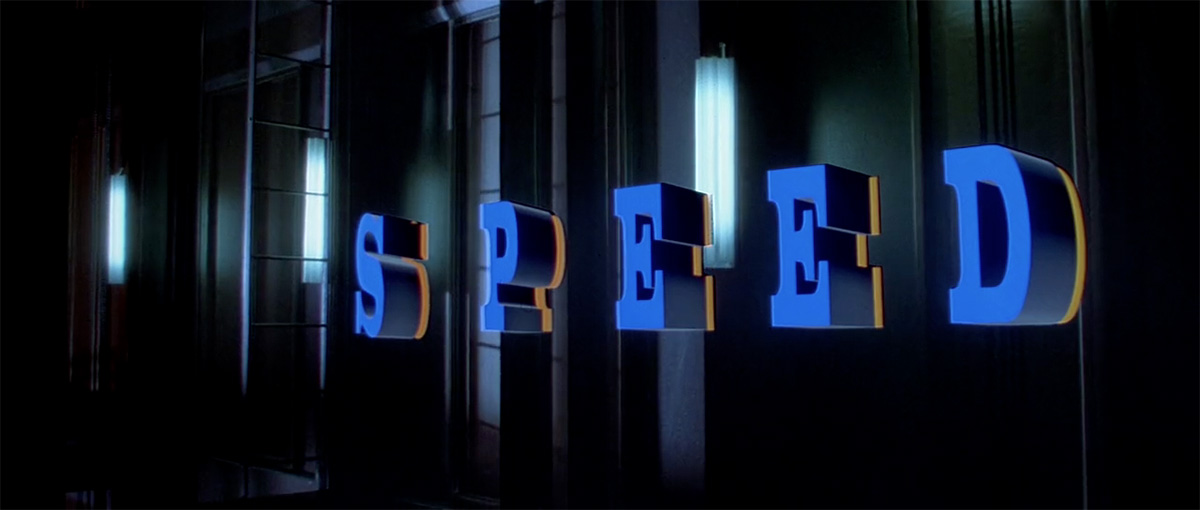Shooting 'Speed's' opening titles almost destroyed the miniature elevator