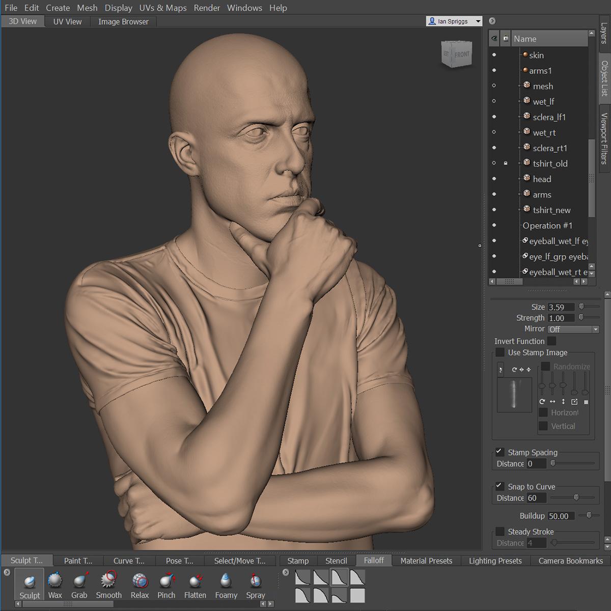 Andre Luis Mudbox sculpt