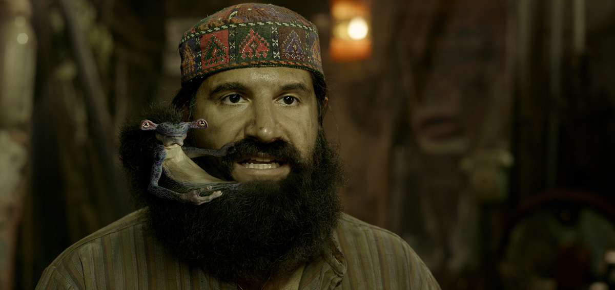 The zaniest character from 'MIB: International' lives in a beard