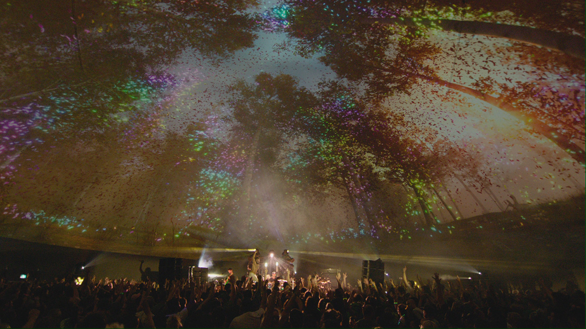 Projecting immersive and interactive imagery onto the underside of a dome, in real-time. Easy, right?
