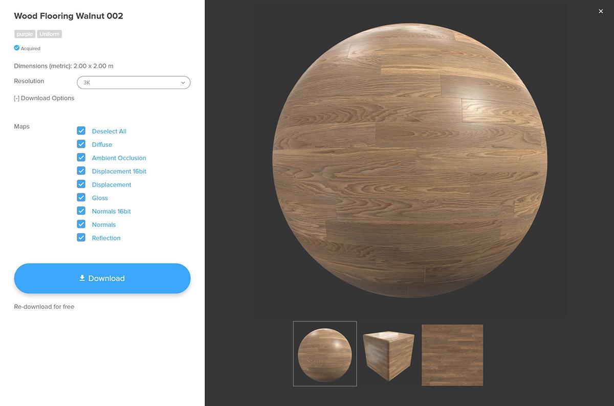 Poliigon wood textures