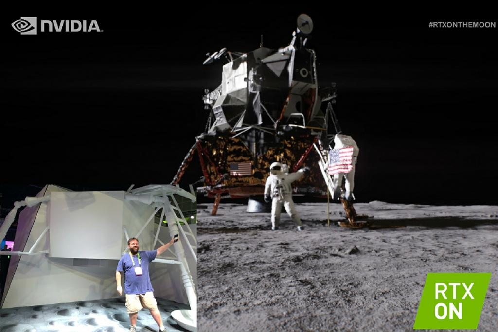 NVIDIA moon walk