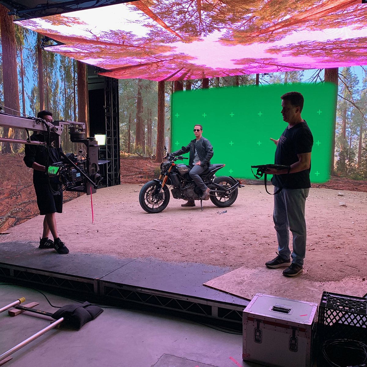 virtual production set