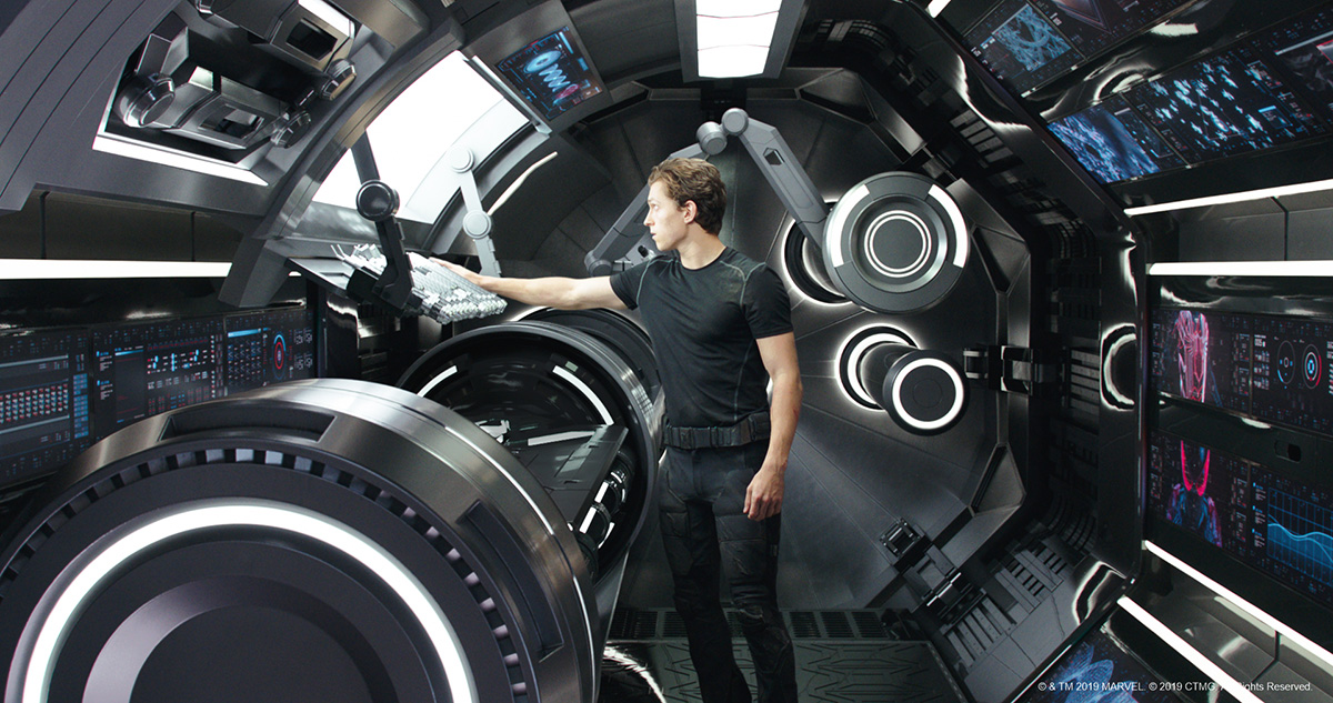 Tony  Stark on his lab
