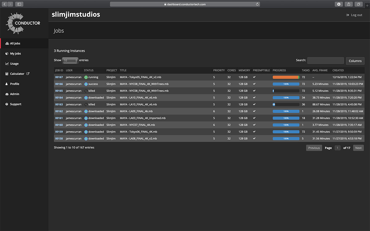 The Conductor dashboard