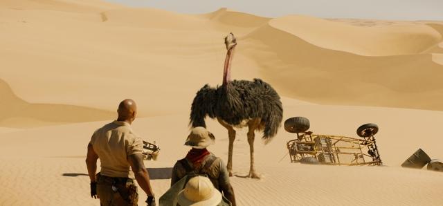 ostrich VFX in jumanji: THE NEXT LEVEL