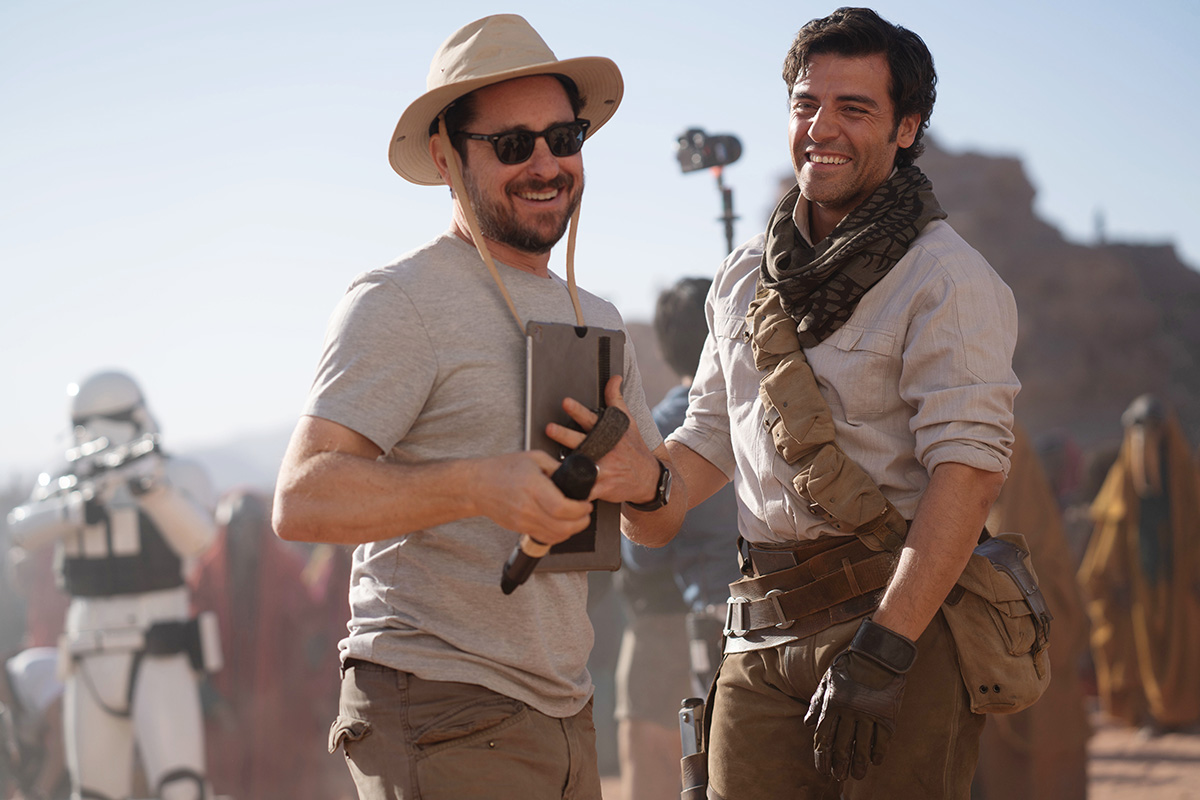 J.J. Abrams with Oscar Isaac