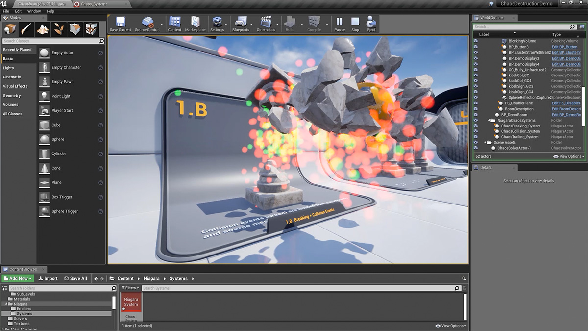 Get to know destruction FX in Unreal Engine
