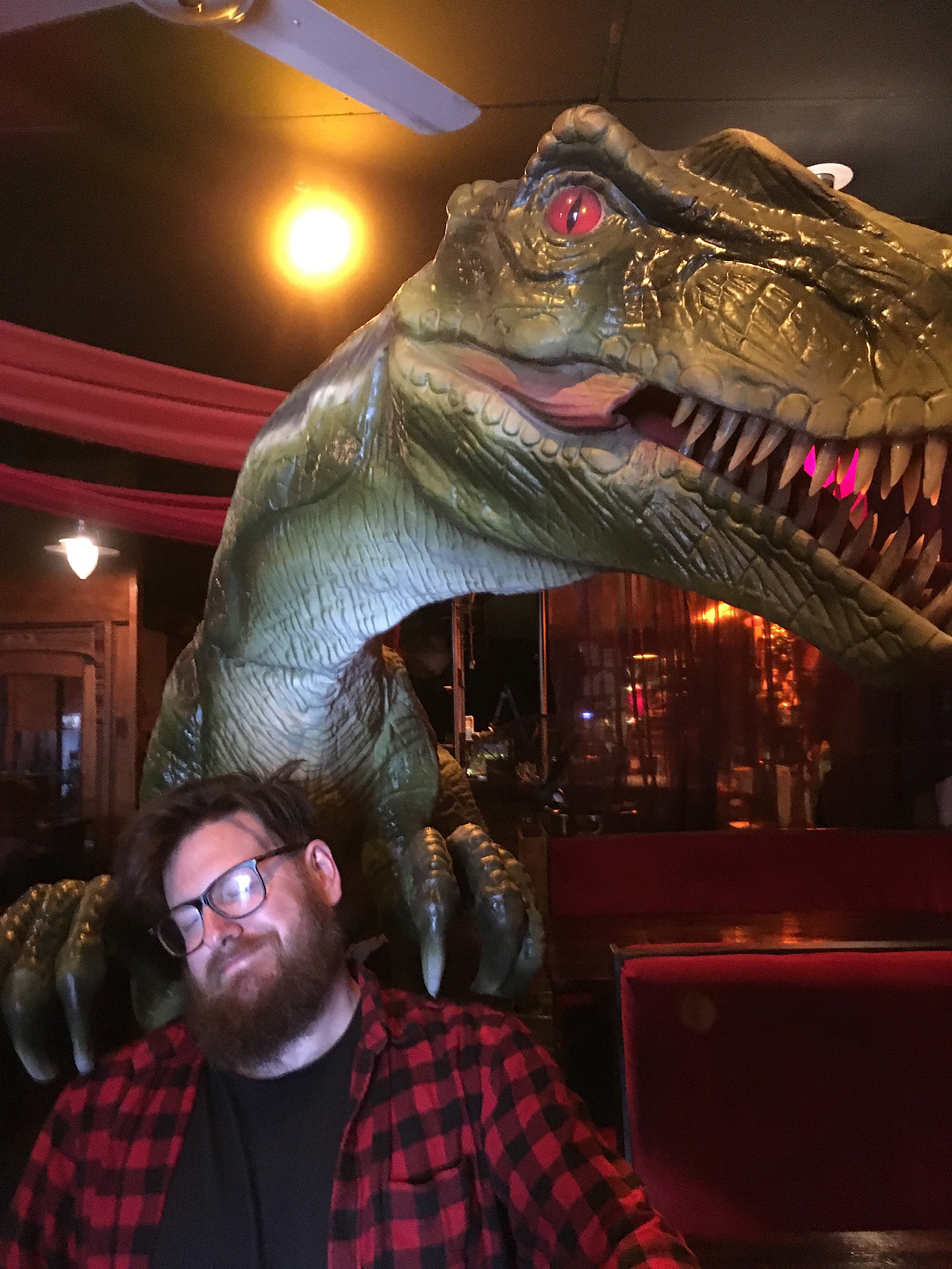 More fun with a dinosaur.