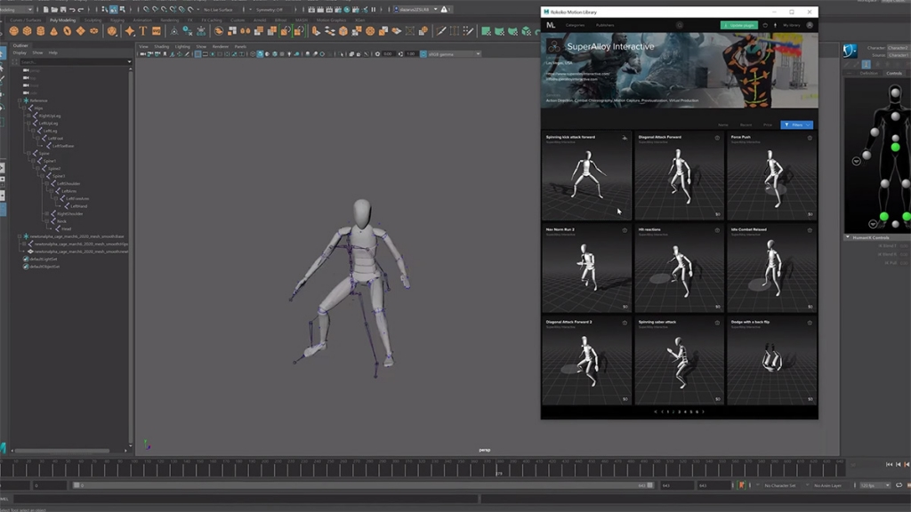 Maya: Motion capture