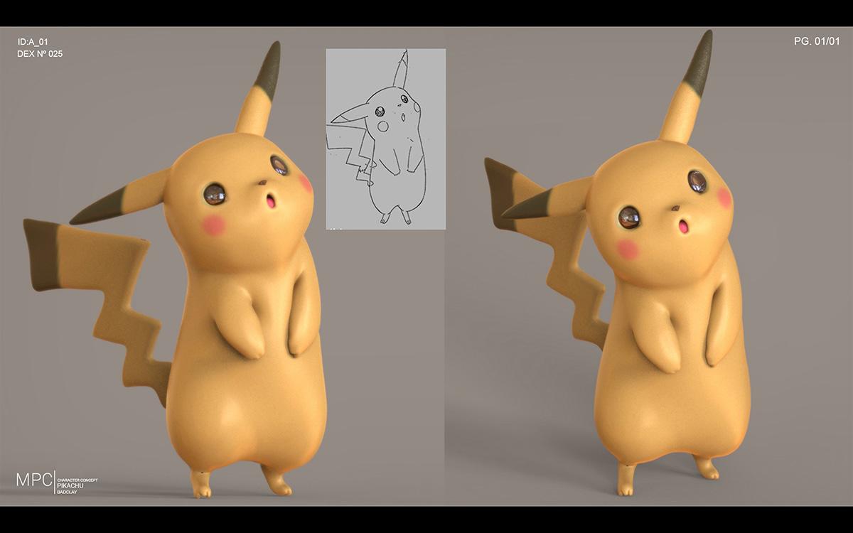 Detective Pikachu: computer graphic