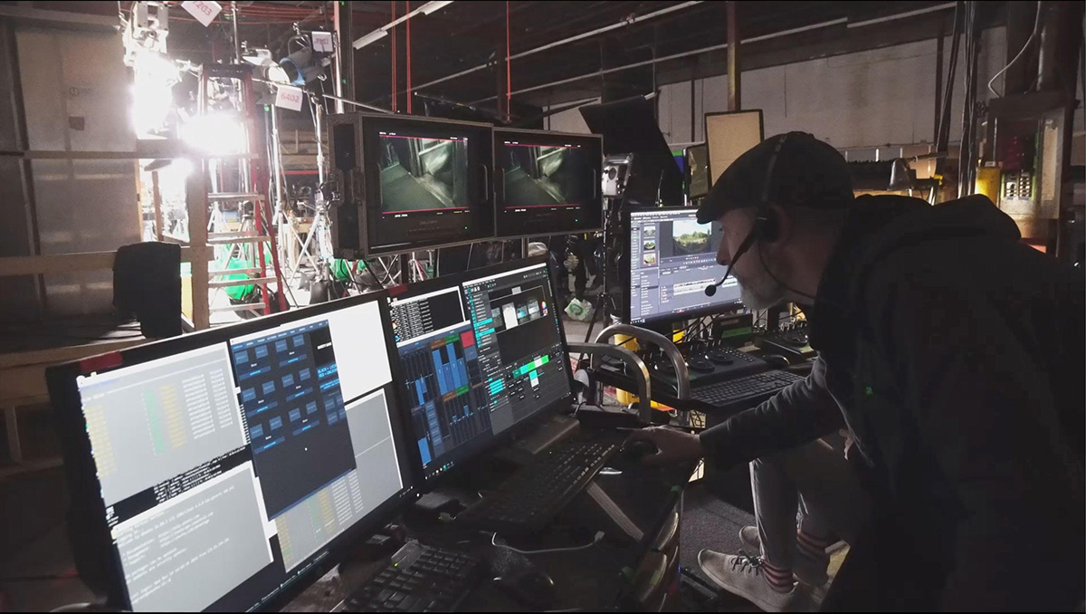 On-set monitoring of ThruView
