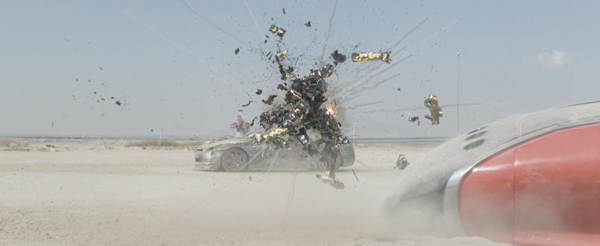 Destroying police robots - Elysium