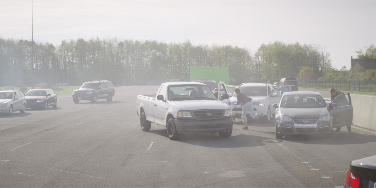 Original photography for the crash scene
