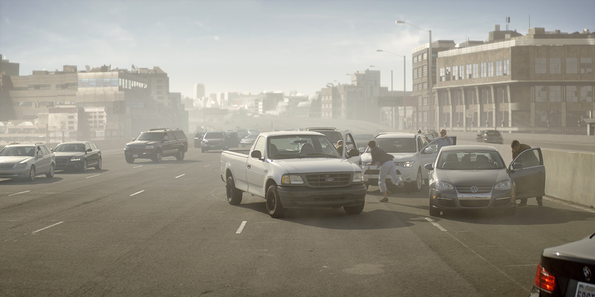 Final shot of San Francisco freeway by DNEG
