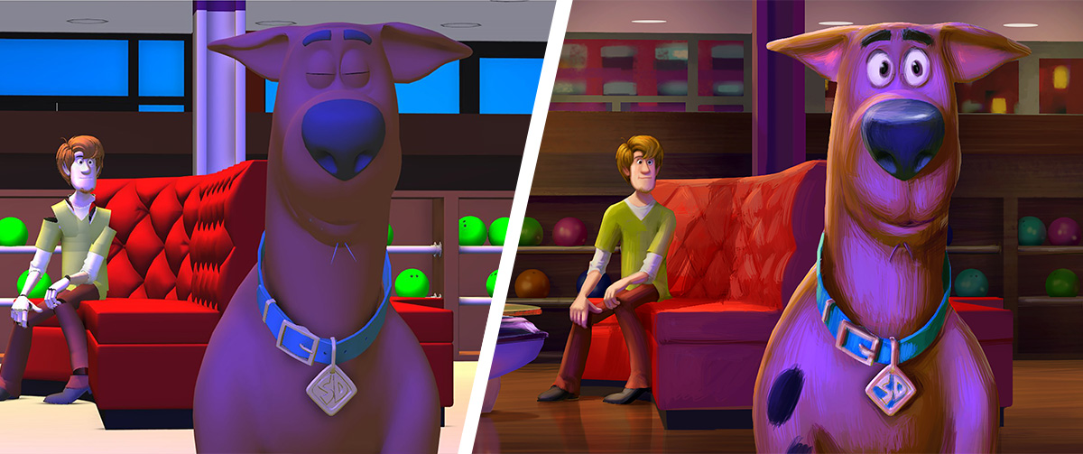 Unravelling the mystery of the color script and color keys in 'Scoob!'