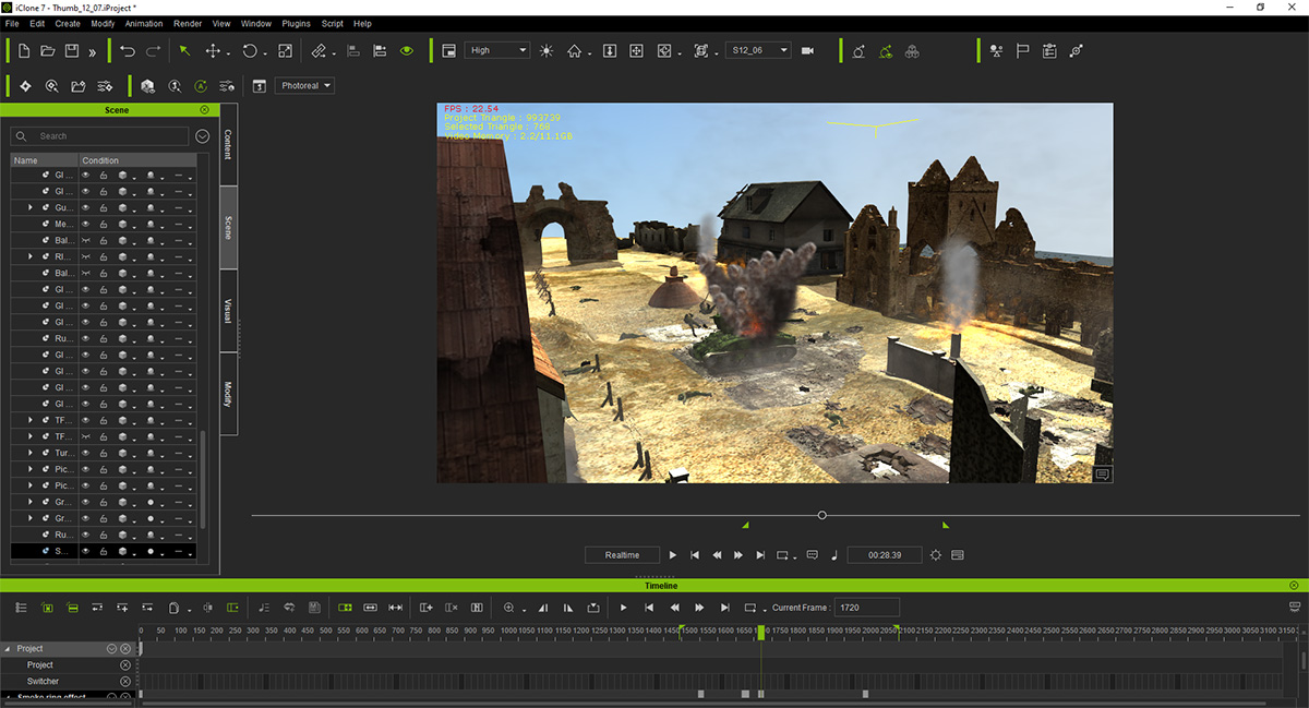 The art of crafting war scenes for previs