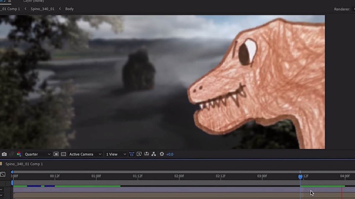 Watch the making of Eva and Seth Worley's 'Dino Feast'