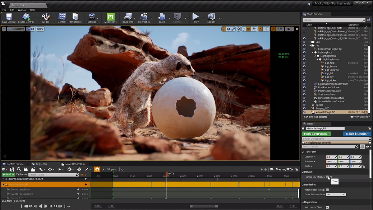 Eagle vs. meerkat: behind Weta Digital's stunning Unreal Engine short