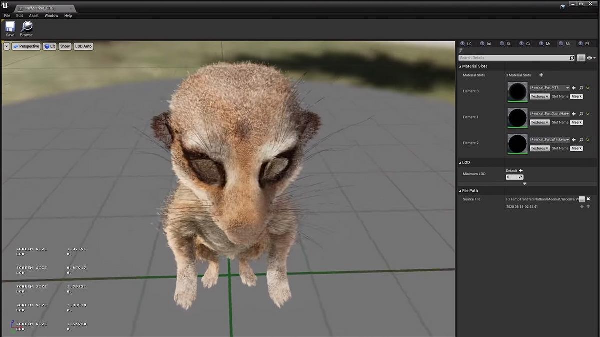 Weta Digital's meerkat Unreal short available as free sample files