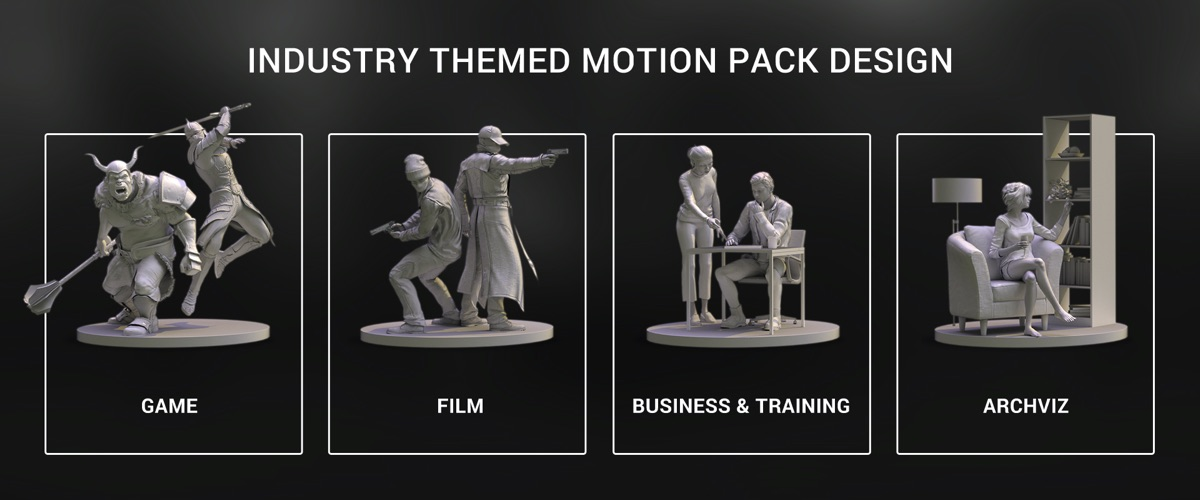 ActorCore: a new 3D mocap motion library