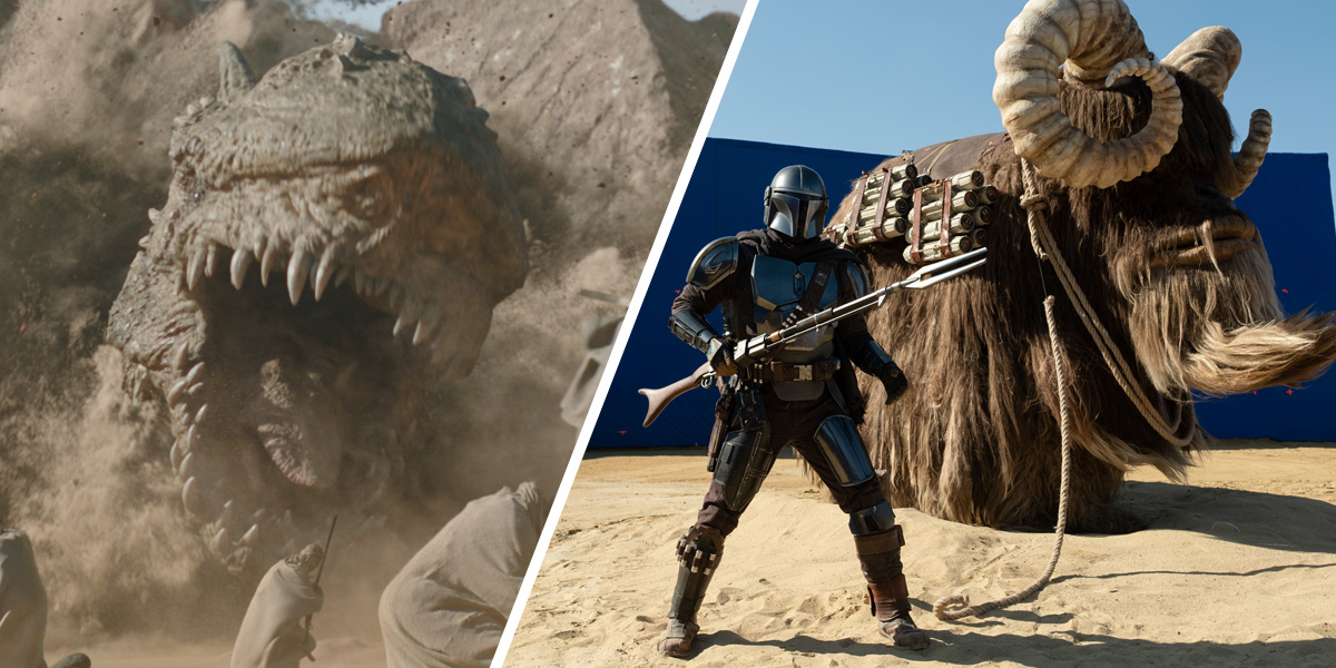 How ILM kept much of the Krayt dragon hidden in s2 of 'The Mandalorian'