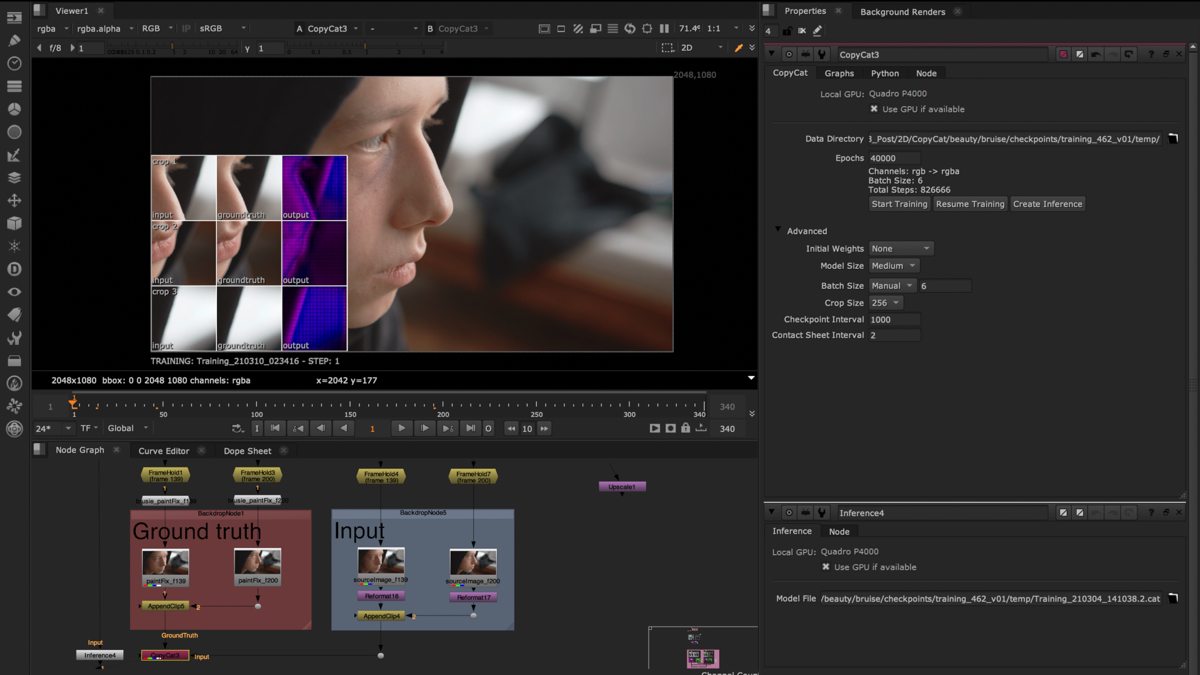 The machine learning tools now in Nuke 13