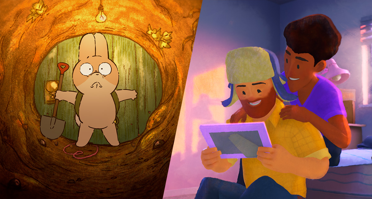 Behind the scenes of Pixar's shorts, 'Out' and 'Burrow'