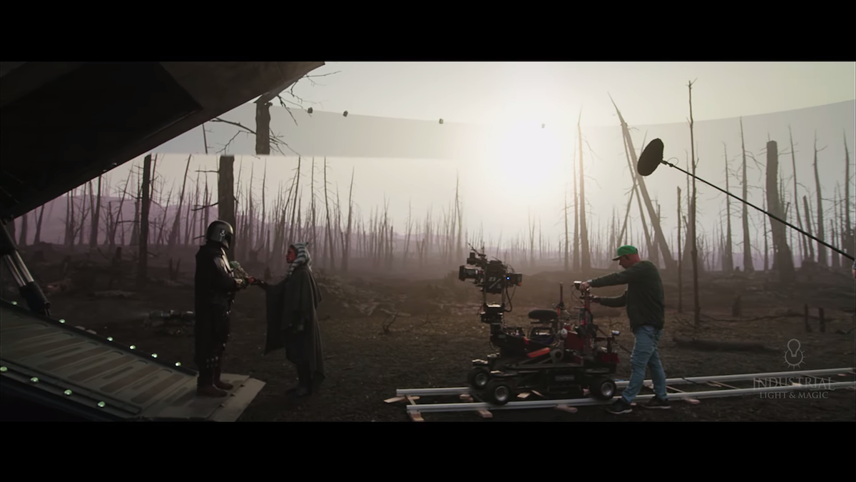 New stunning look at ILM's virtual production on s2 of 'The Mandalorian'