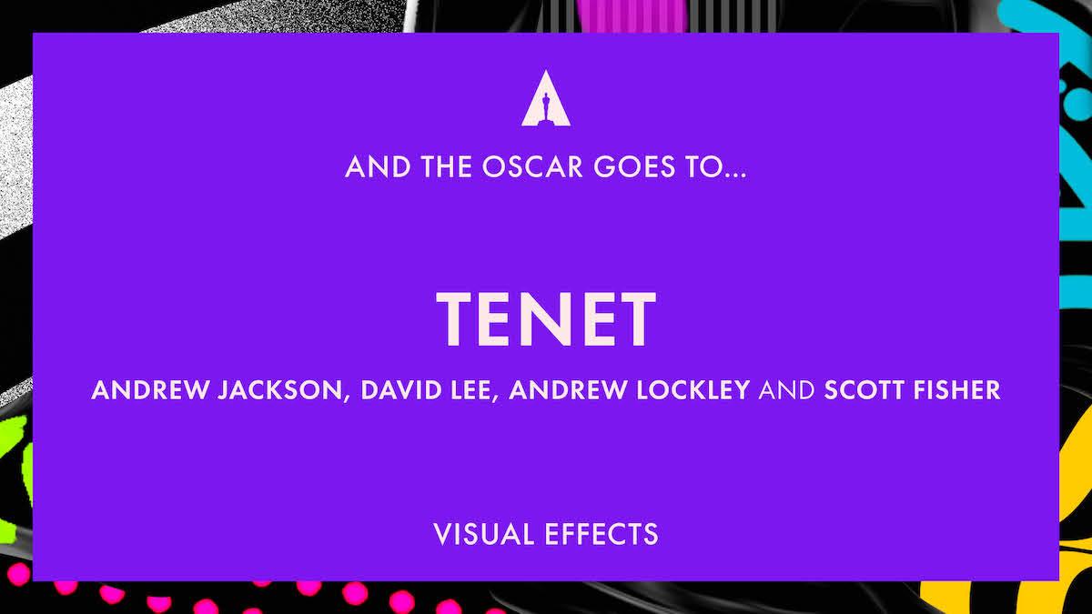 'Tenet' takes the VFX Oscar