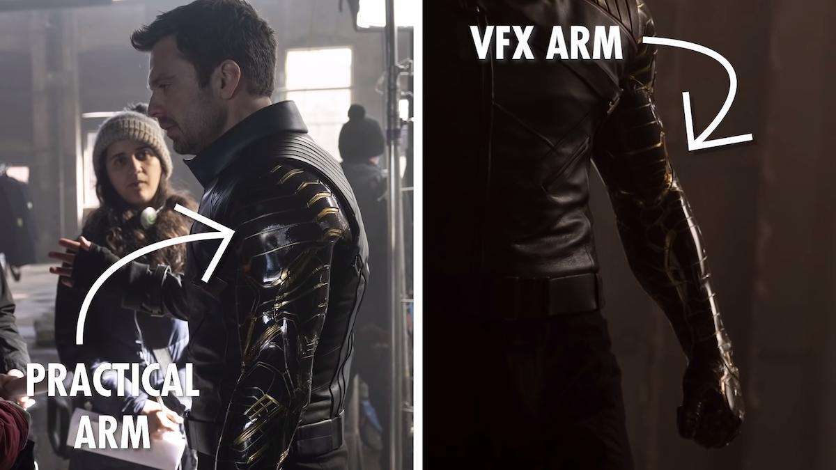 Inside the VFX behind Bucky's arm