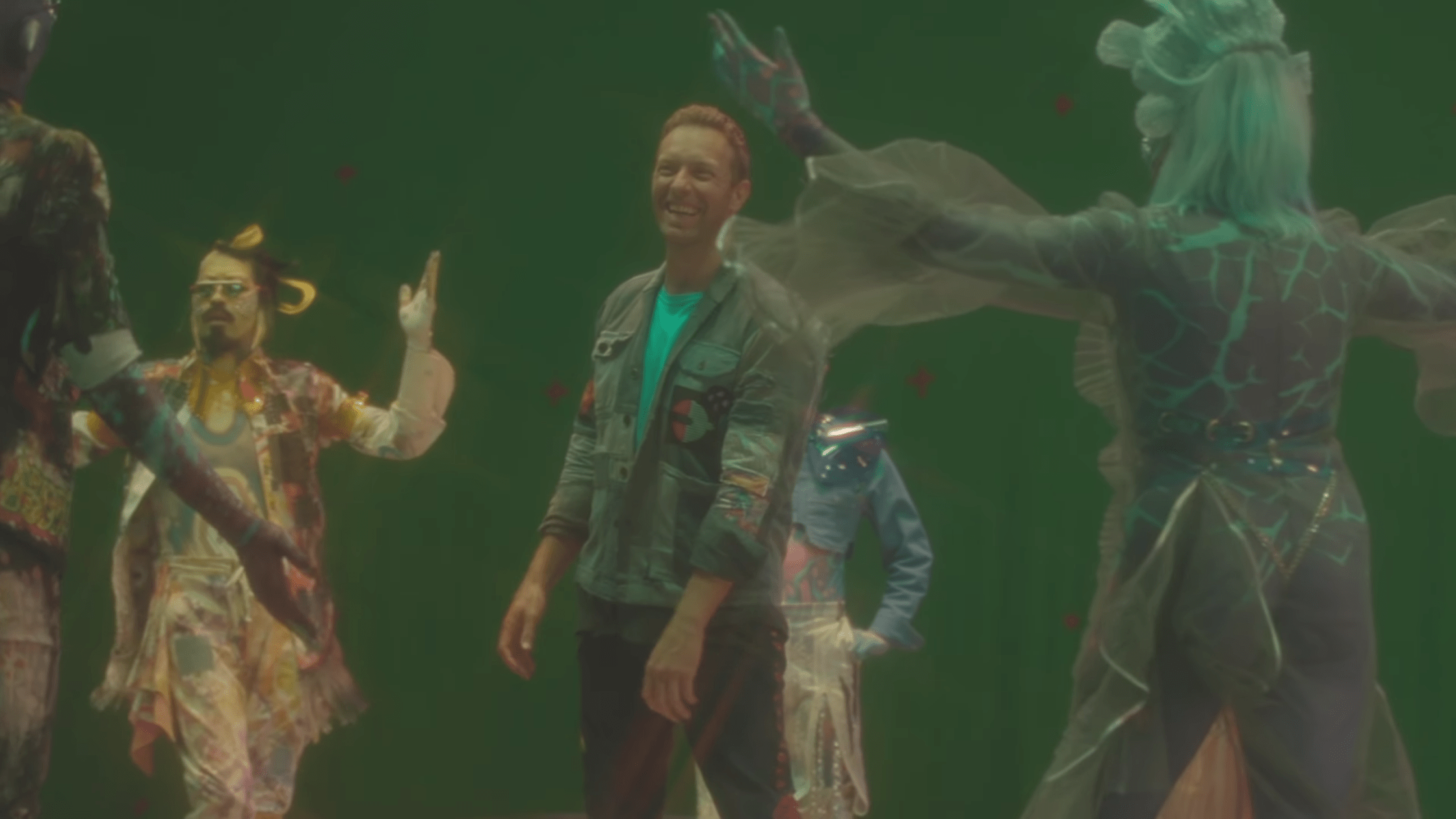 Go on set of Coldplay's 'Higher Power' music video
