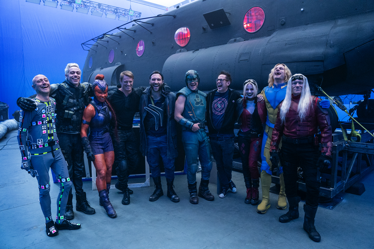 On the set of 'The Suicide Squad'