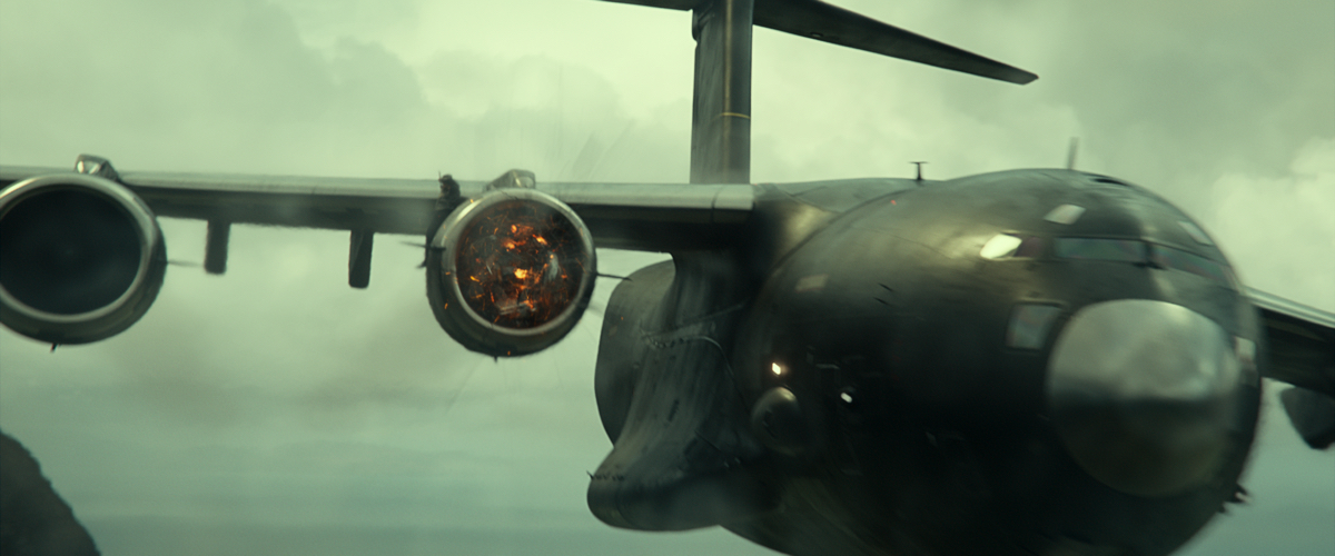 Here's how that crazy motorbike jump onto a C-17 in 'Infinite' was done