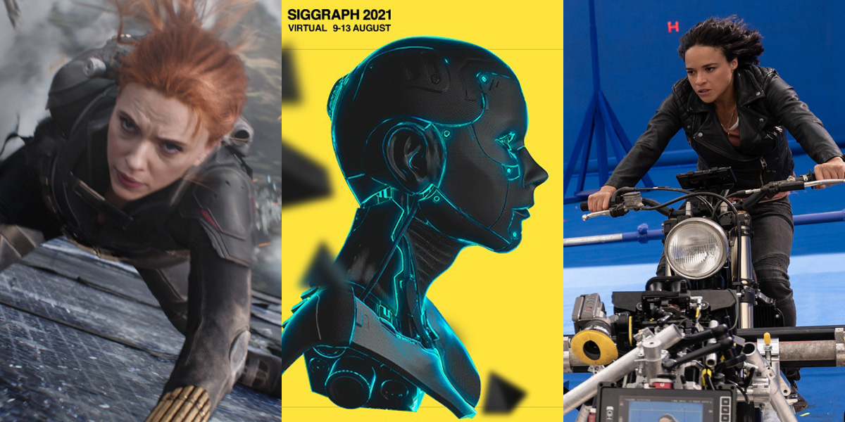 VFX Notes: Ep 3 – Black Widow, SIGGRAPH preview, LUTs, CG vs. practical
