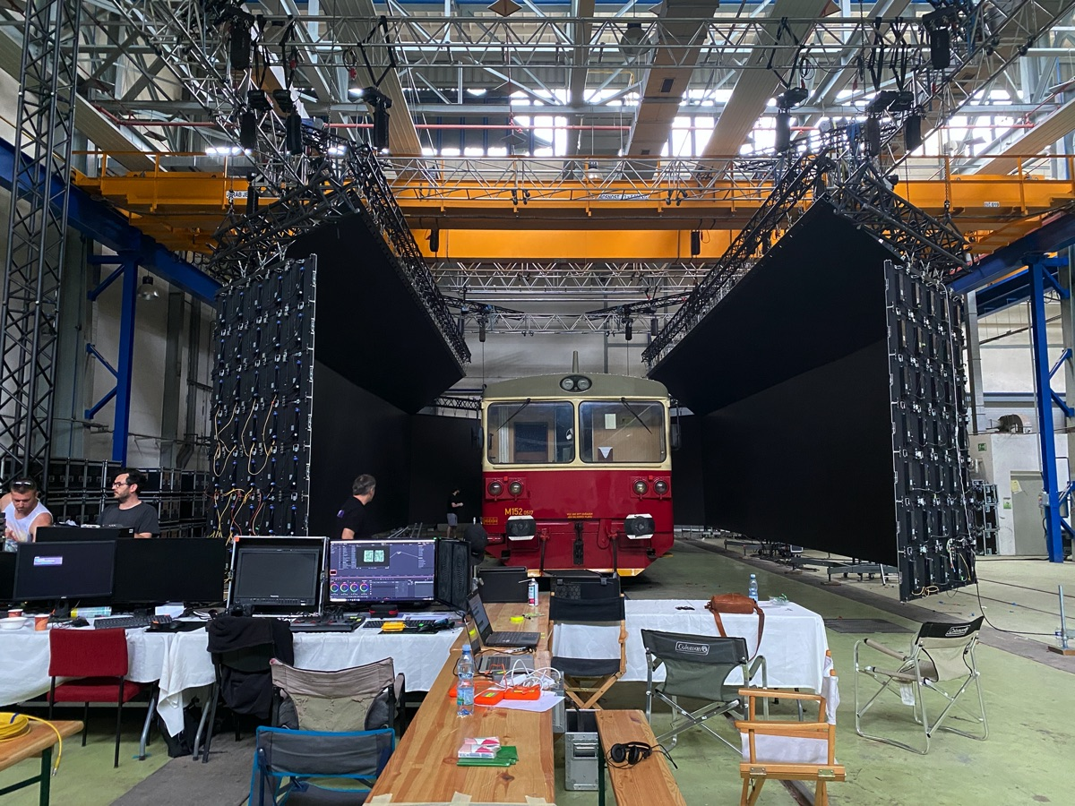 How this runaway train film used LED walls for virtual backgrounds