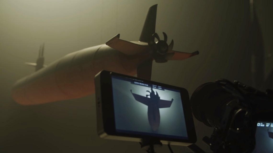 A new video showcases practical submarine model filming